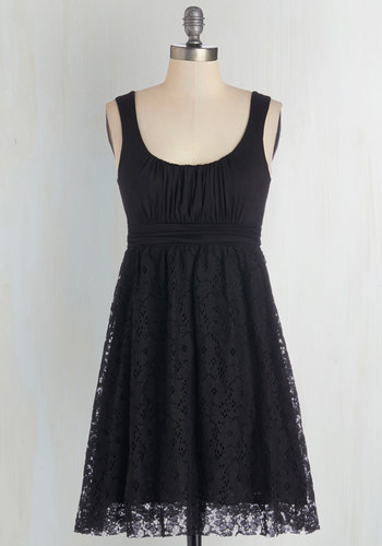 Artisan Iced Tea Dress in Black - Knit, Black, Solid, Casual, A-line, Good, Scoop, Lace, Variation, Maternity, Best Seller, Summer, Full-Size Run, Short, 4th of July Sale, Sundress, Sleeveless, Top Rated