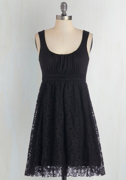 Artisan Iced Tea Dress in Black