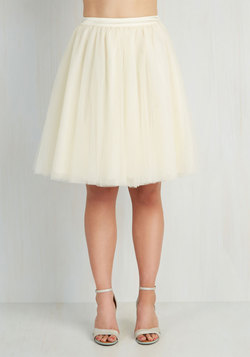 Turning in Tulle Skirt in Vanilla