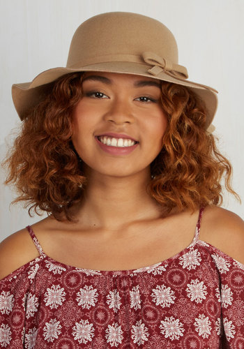 Oh Classy Day Hat in Tan - Tan, Solid, Casual, Daytime Party, Beach/Resort, Festival, Variation, Boho, Spring