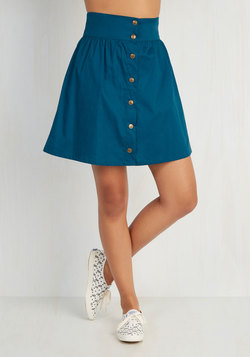 Curry Your Enthusiasm Skirt in Peacock