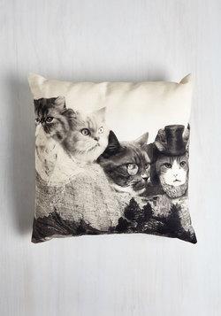 Meow-nt Rushmore Pillow