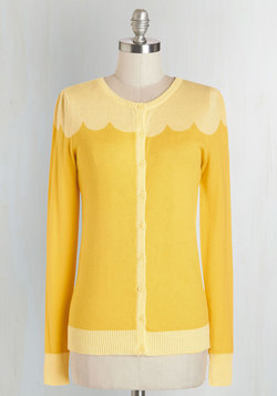 Paris Cafe Cardigan in Jaune