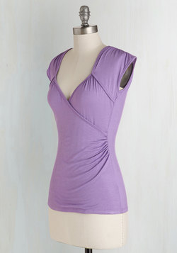 Seemingly Sew Top in Lilac