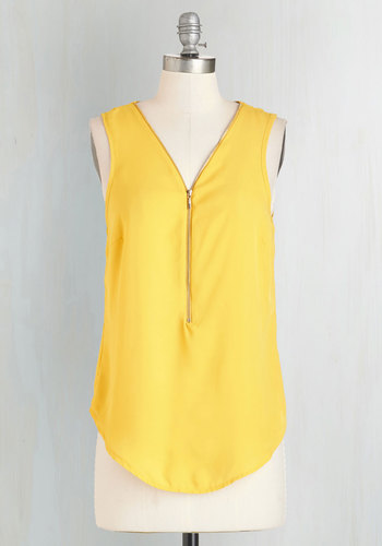 Affixed on You Top in Goldenrod
