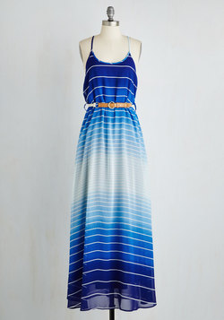 Colorful Combo Dress in Sapphire