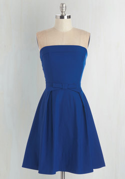Right on Timeless Dress in Cobalt