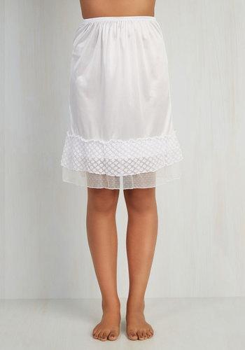 Prim and Her Half Slip in Blanc $29.99 AT vintagedancer.com