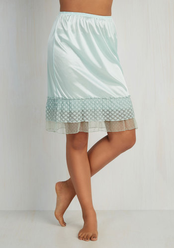 Prim and Her Half Slip in Mint $29.99 AT vintagedancer.com