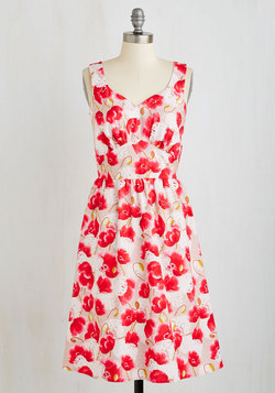 Let's Be Photorealistic Dress in Poppies