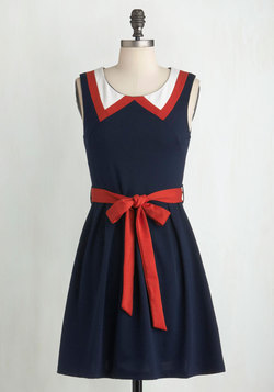 Red, White, and Cute Dress