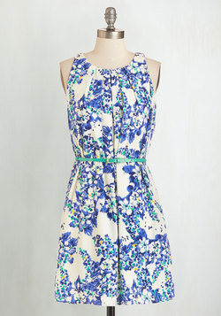 Great Wavelengths Dress in Blue Floral