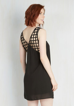 Grid You Farewell Dress