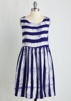 Art Show Stopper Dress in Stripes