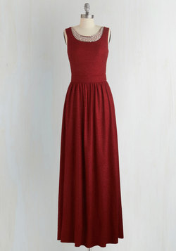 Beyond Compare Dress in Garnet