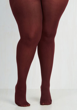 Seize the Day Tights in Wine - Plus Size