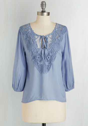 Lifelong Romantic Top in Blue $39.99 AT vintagedancer.com