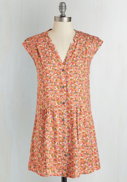 Well Within Your Peach Tunic in Garden