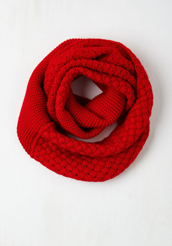 Chill Out on the Town Scarf in Red - Red, Solid, Knitted, Fall, Winter, Better, Variation, Folk Art, Gals, Top Rated, 4th of July Sale