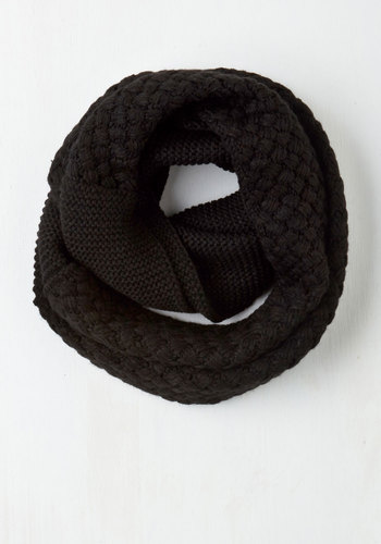 Chill Out on the Town Scarf in Black - Black, Solid, Knitted, Fall, Winter, Better, Variation, Knit, Gals, Top Rated, 4th of July Sale