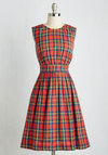 Too Much Fun Dress in Tartan