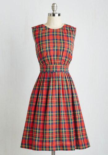 Too Much Fun Dress in Tartan $99.99 AT vintagedancer.com