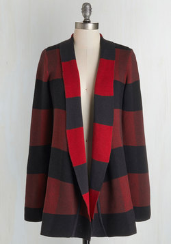 Simply Snuggly Cardigan in Red