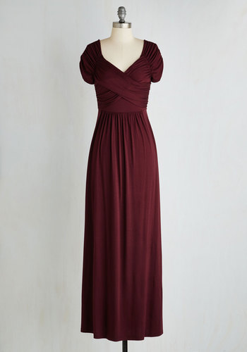 Ocean of Elegance Dress in Burgundy