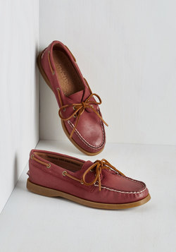 All Fans on Deck Loafer in Nantucket Red