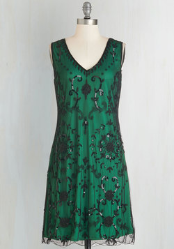 Bead It Dress in Emerald