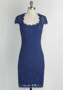 How Does Sheath Do It? Dress in Cobalt