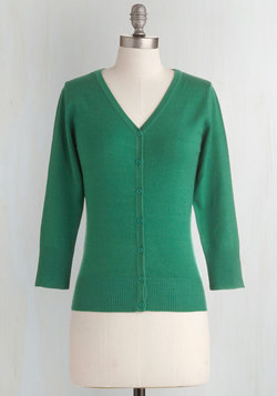 Charter School Cardigan in Kelly Green