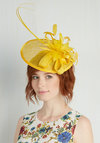 Tilt the End of Time Fascinator in Yellow