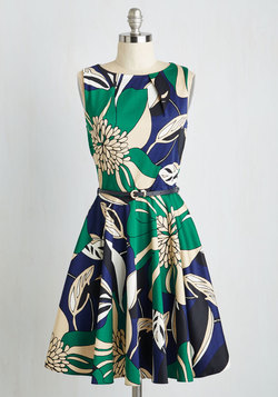 Luck Be a Lady Dress in Flower Art