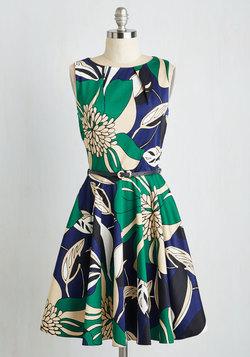 Luck Be a Lady Dress in Flower Art