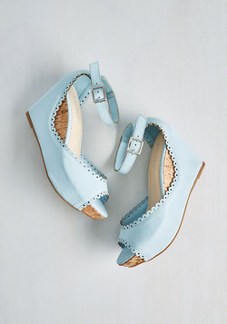 Sweetheart And Sole Wedge in Sky
