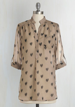 Love Ballad Tunic in Sheer Tan