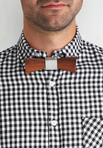Favorite Bough Tie - Brown, Silver, Quirky, Eco-Friendly, Guys
