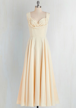 Aisle Be There Maxi Dress in Cream