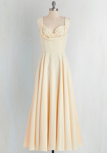 Aisle Be There Maxi Dress in Cream $274.99 AT vintagedancer.com