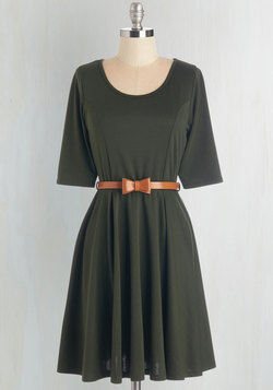Abiding Beauty Dress in Olive