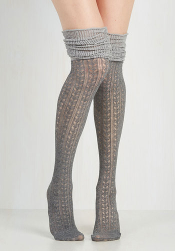 Put Your Strut In Me Thigh Highs in Stone $14.99 AT vintagedancer.com