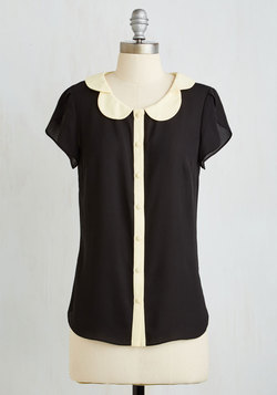 Teacher's Petal Top in Black