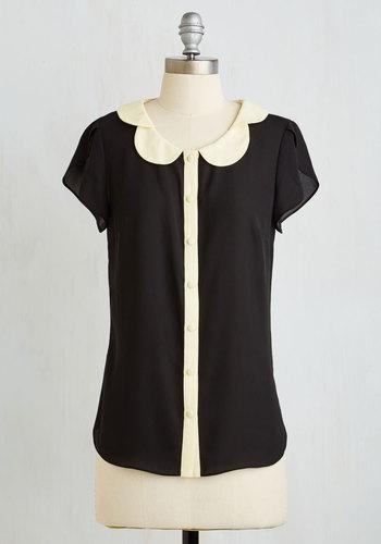Teachers Petal Top in Black $44.99 AT vintagedancer.com