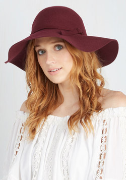 Timeless is More Hat in Burgundy