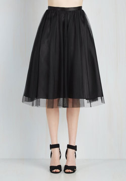 Pointe of View Skirt in Black