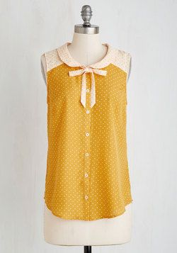 Fashionably Elate Top in Goldenrod