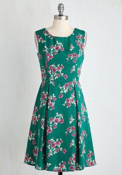 I Rest My Grace Dress in Emerald Blooms