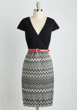 Peace and Client Dress in Chevron