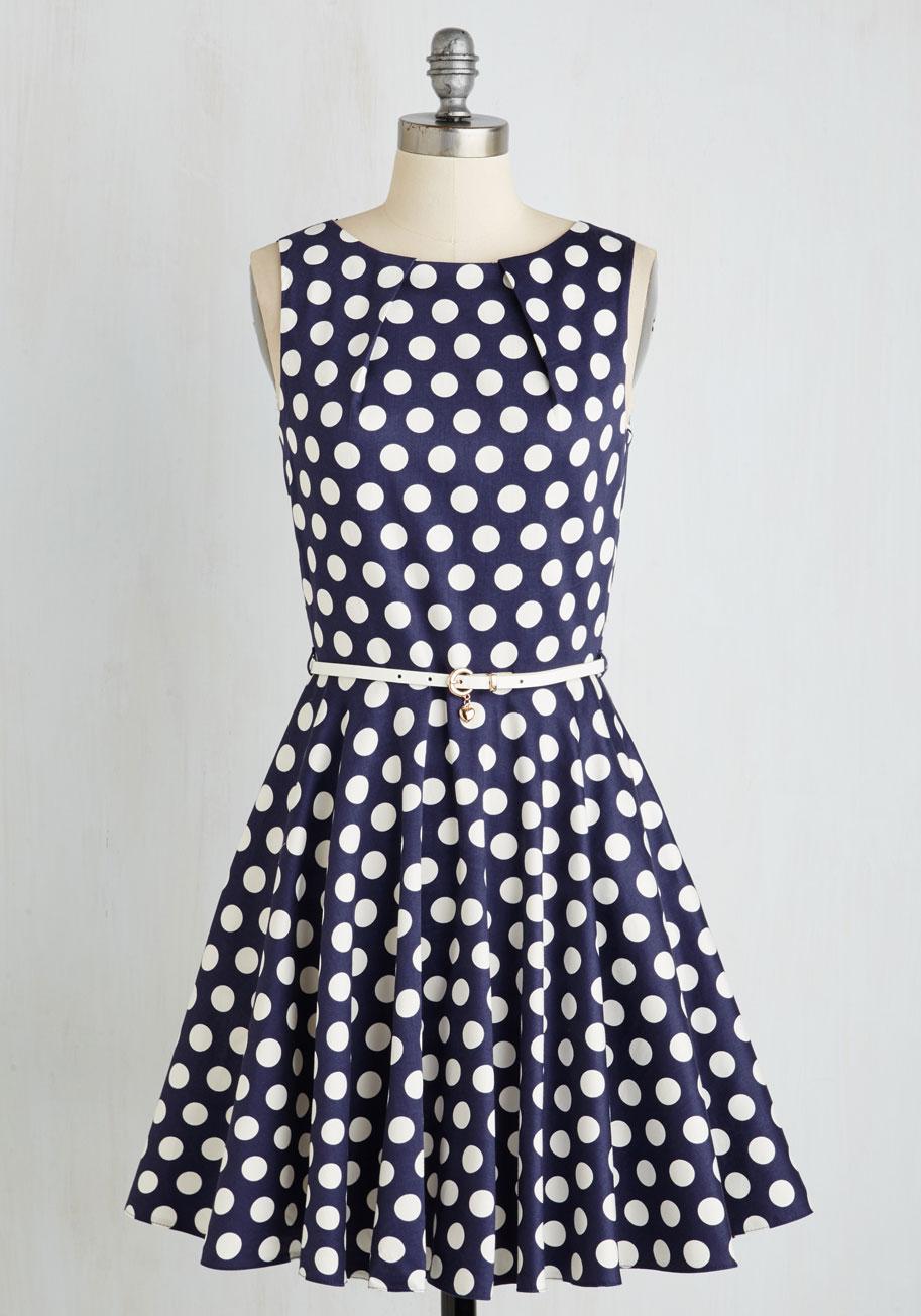 Pretty Polka Dot Dress Polka Dot Dresses Luck be a
